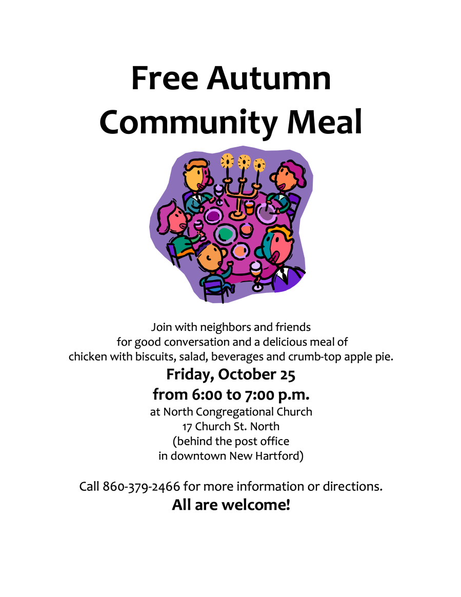 Free meal flyer Fall 2019